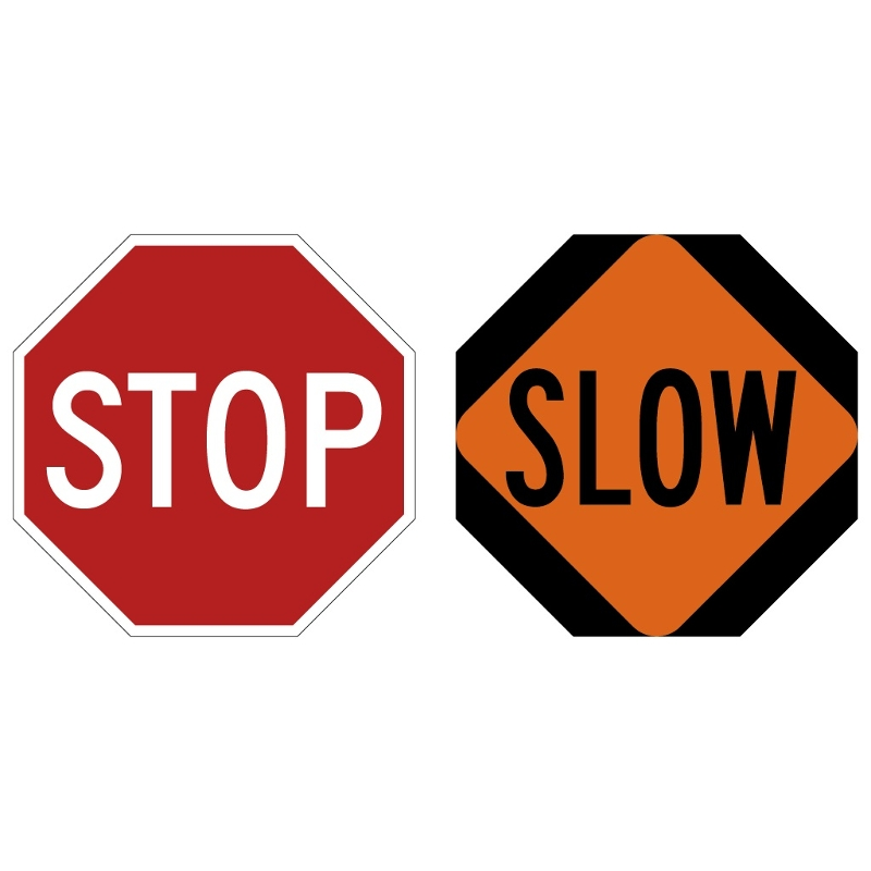 Stop / Slow Paddle Only