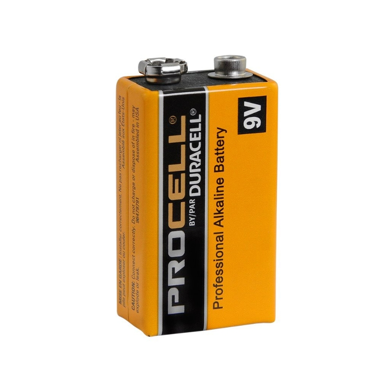 9V Duracell Alkaline Batteries