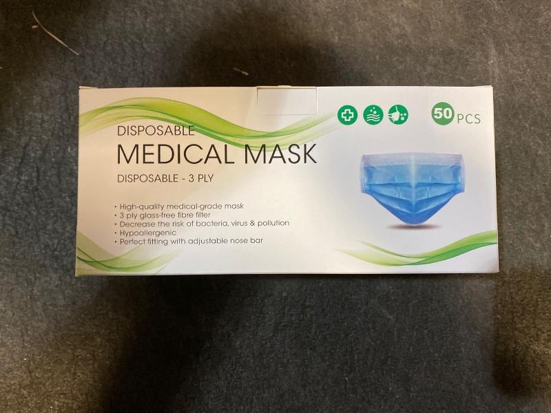 Civil Blue Masks Packaging – 50 pcs Per Box