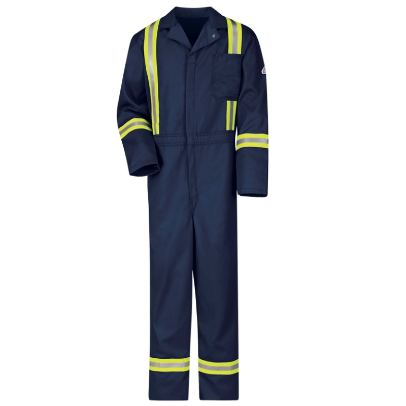 Bulwark Men's FR Coveralls with Reflective Tape - CAT 2