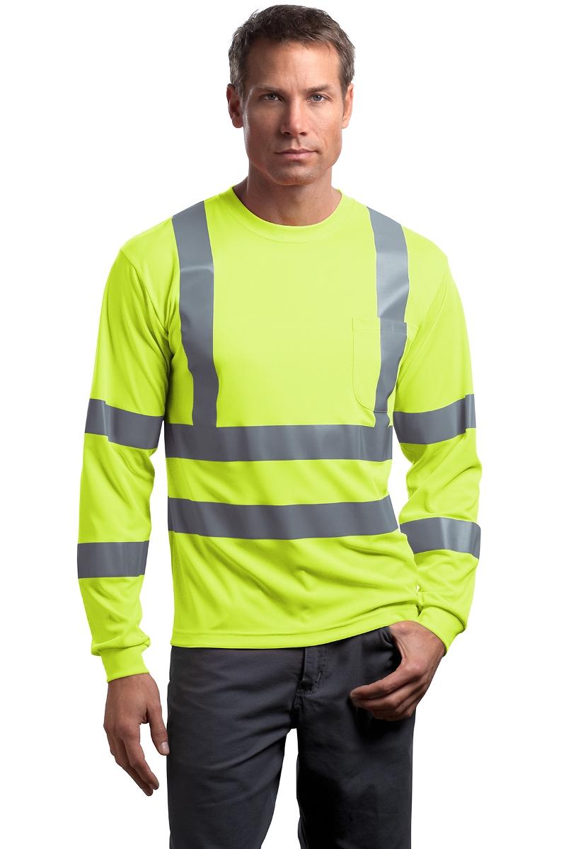 CornerStone Hi-Vis Class 3 Long Sleeve T-Shirt CS409