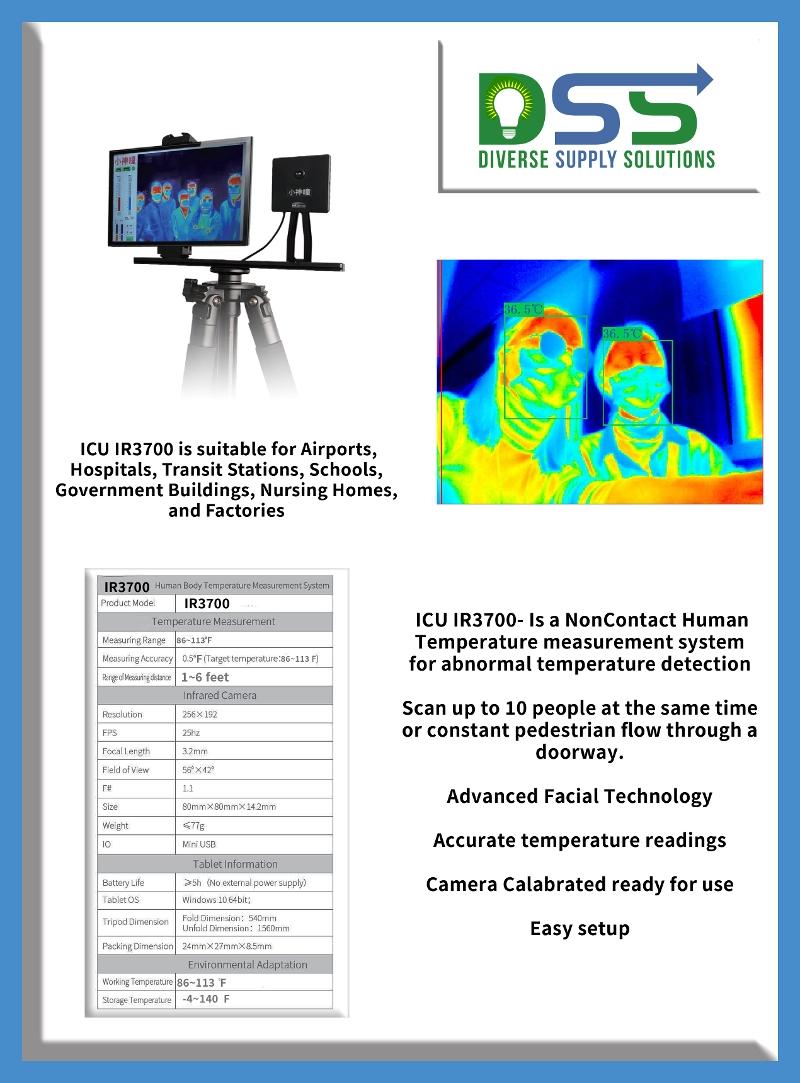 Non-Contact Temperature Measuring System - Model #IR3700