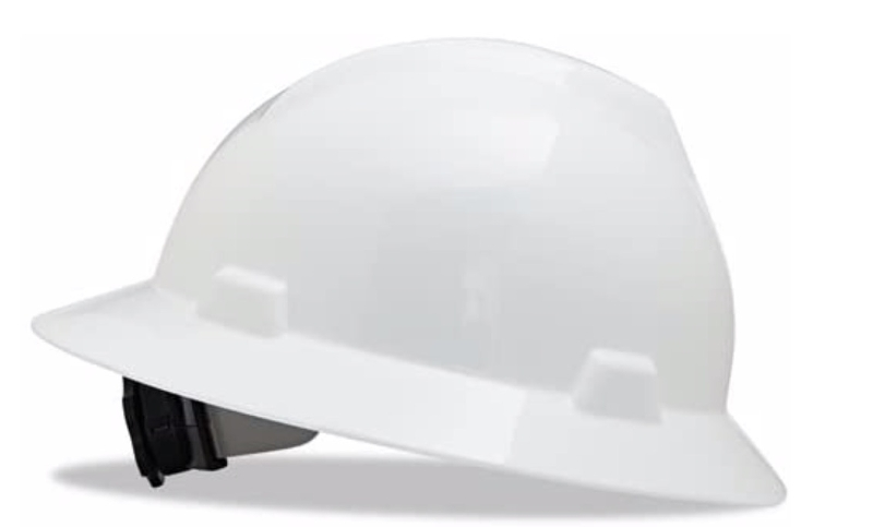 MSA V-Gard Full Brim Hard Hat