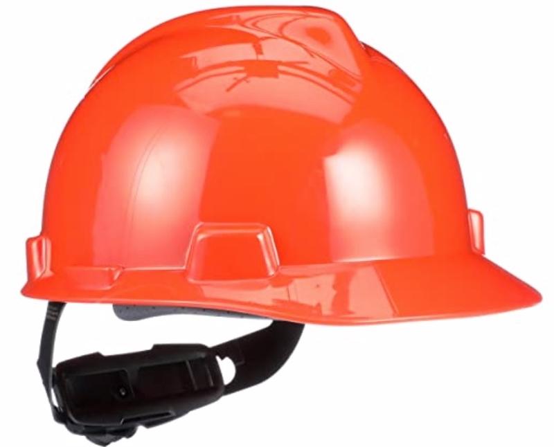 MSA V-Gard Orange Cap Style Hard Hat