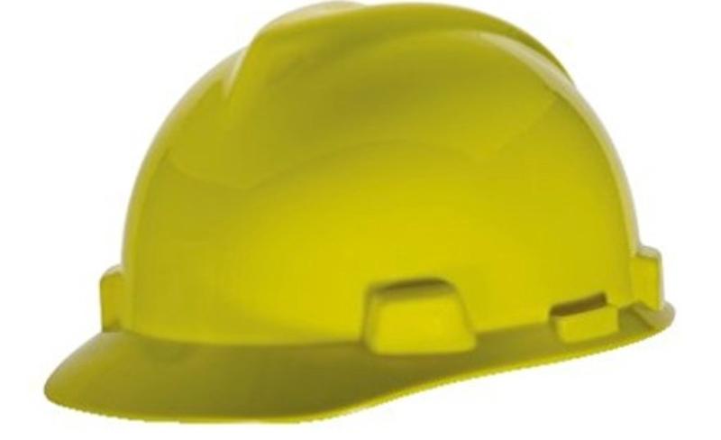 MSA V-Gard Yellow Cap Style Hard Hat