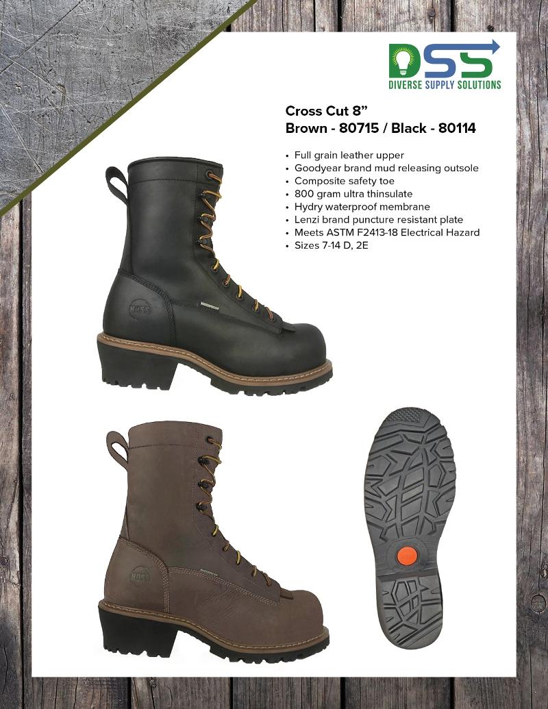 """HOSS Boots – Cross Cut 8"""" Climbing Boots"""