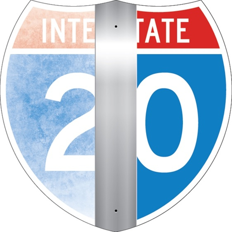 Refurbished Interstate Sign