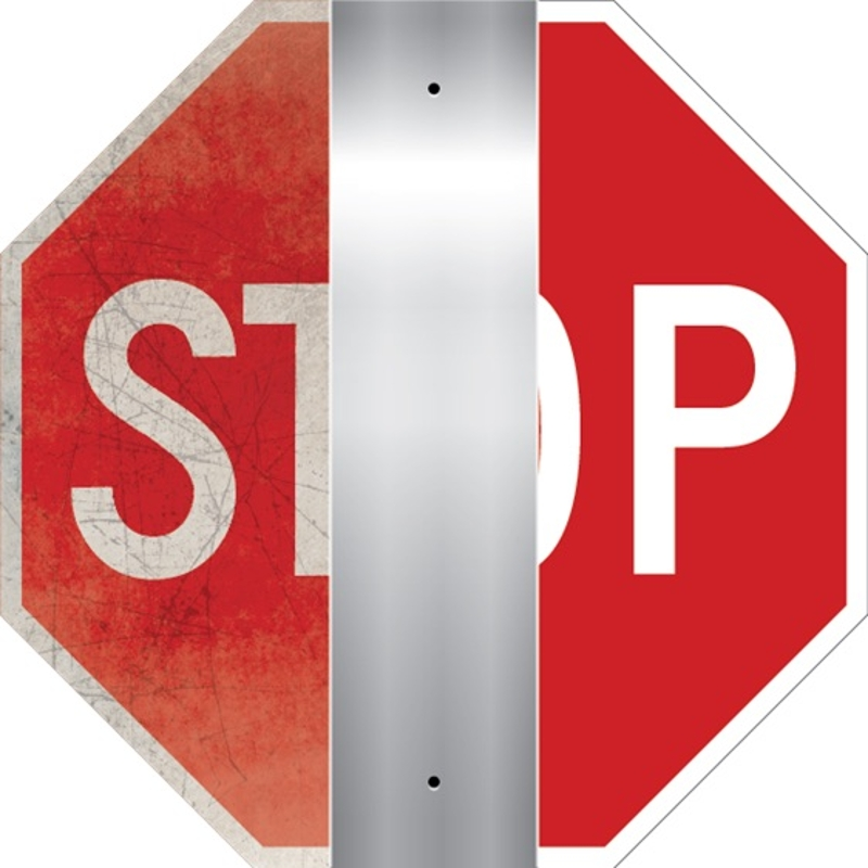 Refurbished Stop Sign