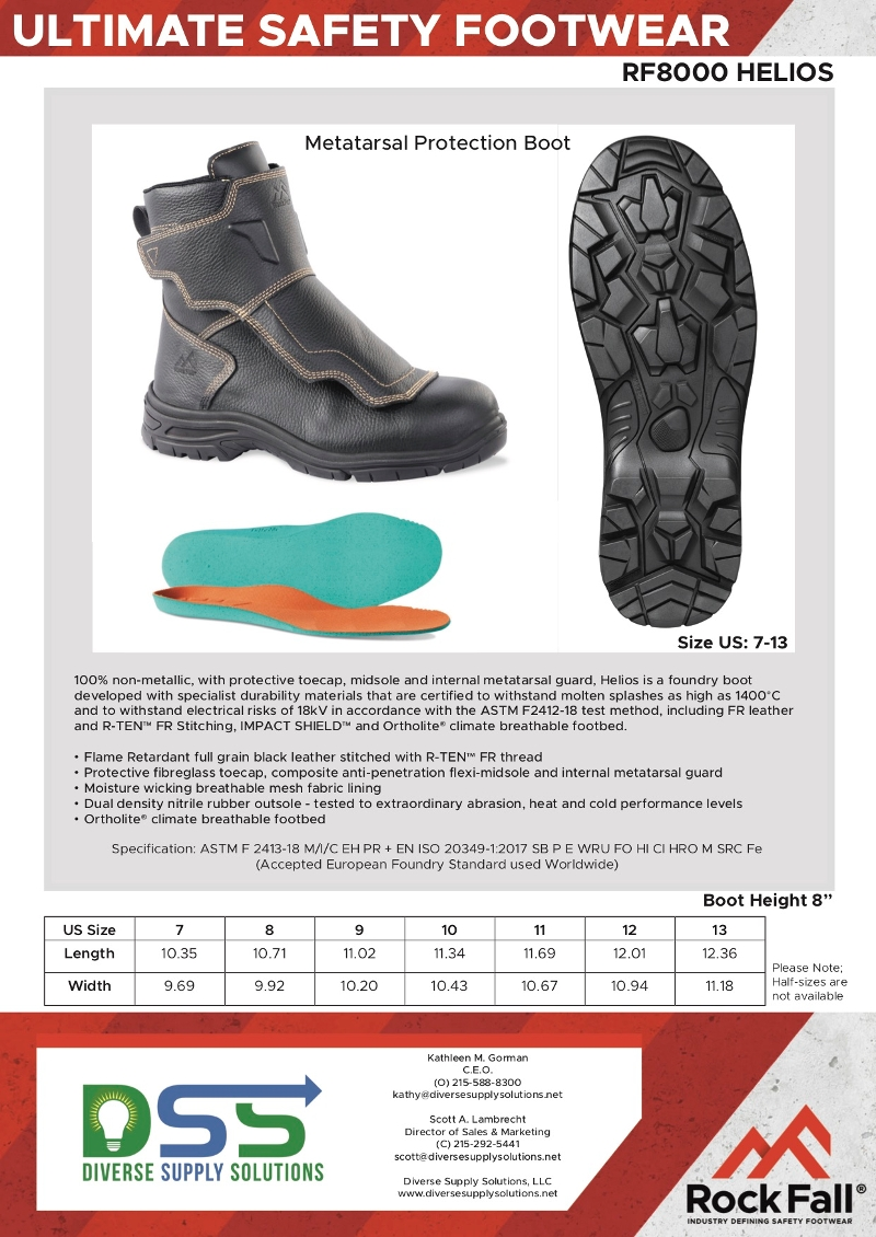 Foundry / Metatarsal Protection Boot --Rock Fall RF8000 Helios