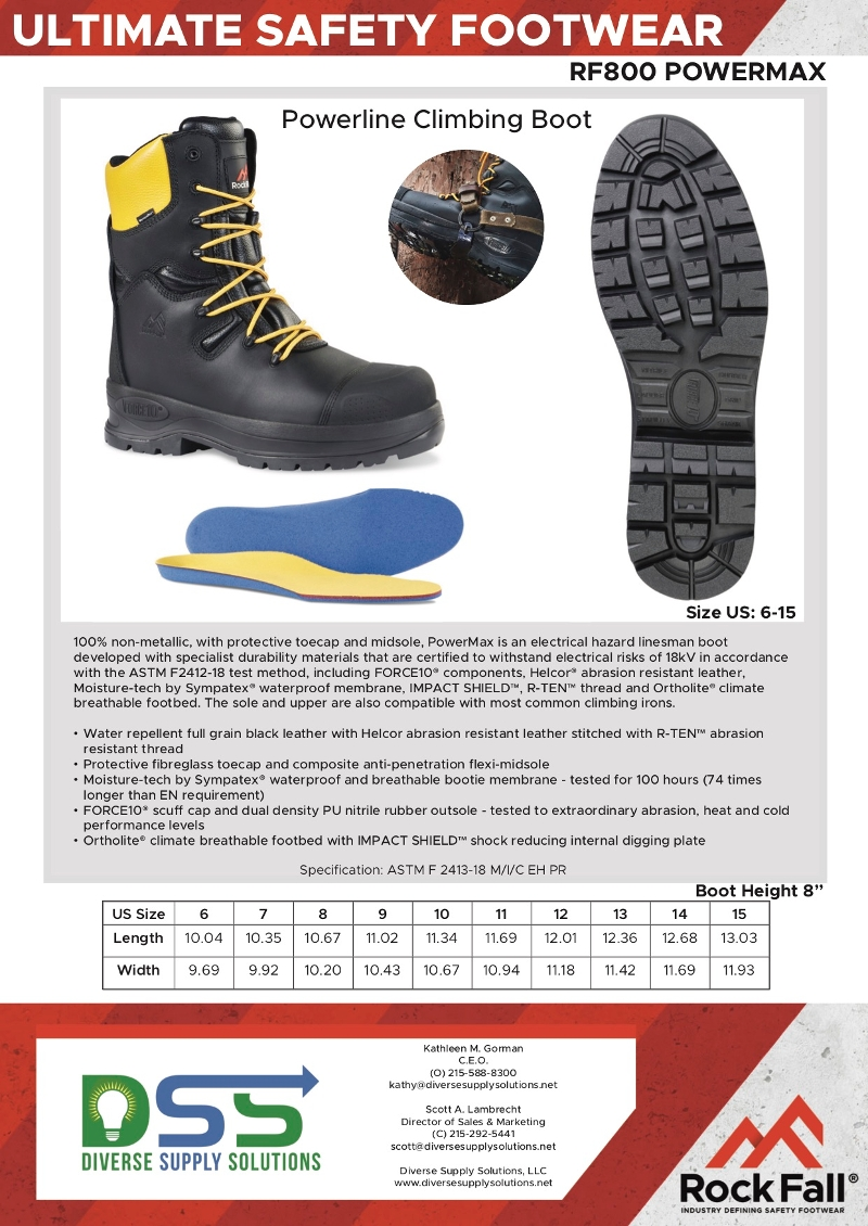 Powerline Climbing Boot - Rock Fall RF800 PowerMax